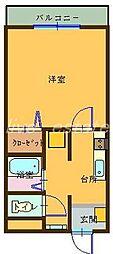 メゾン・ドゥ・ボヌール[3階]の間取り