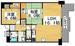 ポルト堺II[4階]の間取り