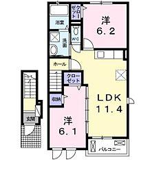 プラシード カーサ16[2階]の間取り