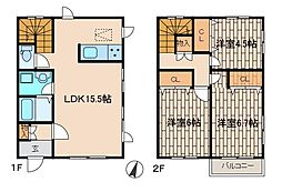 [テラスハウス] 神奈川県相模原市南区鵜野森3丁目 の賃貸【/】の間取り