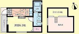 神奈川県横浜市中区千代崎町4丁目の賃貸アパートの間取り