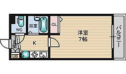 グランヴェルデ新大阪[4階]の間取り
