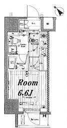 JR山手線 池袋駅 徒歩4分の賃貸マンション 8階1Kの間取り
