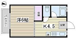 木村コーポ[202号室]の間取り