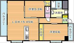 ブルースクエア響II[2階]の間取り