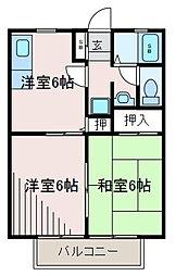 ラ・プルミエール2[1階]の間取り