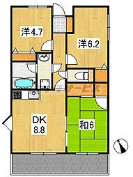 東京都練馬区大泉学園町2丁目の賃貸マンションの間取り