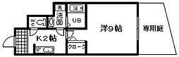 大阪府岸和田市加守町3丁目の賃貸アパートの間取り