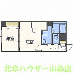 E-horizon山鼻(イーホライズン山鼻)[6階]の間取り