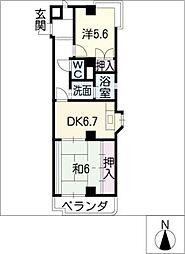 メゾン・アマービレ[2階]の間取り