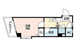 福岡県北九州市小倉北区高峰町の賃貸マンションの間取り