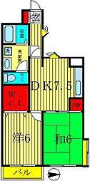 ブレッザ新松戸[4階]の間取り