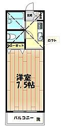 ウッディパレスフジA[203号室]の間取り