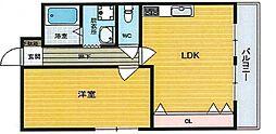 カサ・プリマヴェーラ[2階]の間取り