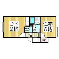 シティハイツ3[2階]の間取り
