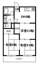 川越アパート[110号号室]の間取り