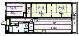 Rinon 国分[4階]の間取り
