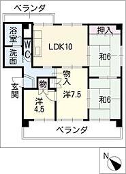 バル5番館[1階]の間取り