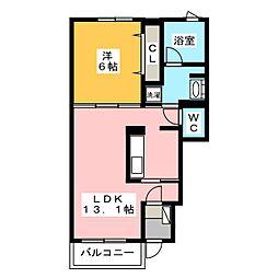 ベル・ロワール[1階]の間取り