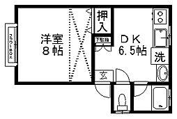 シティパラシオン[1階]の間取り