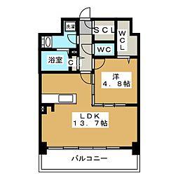 リヴェール箱崎[6階]の間取り