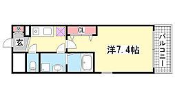 兵庫県神戸市中央区国香通6丁目の賃貸マンションの間取り
