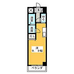 シーム・ドエル筒井[1階]の間取り