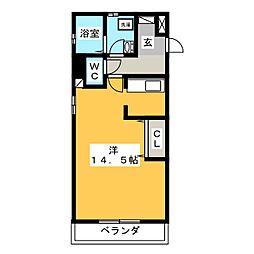 エコノテレステーション11[5階]の間取り