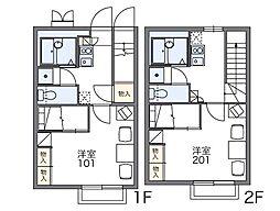 レオパレス青雲[2階]の間取り