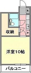 愛媛県松山市本町3丁目の賃貸マンションの間取り