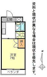 平成ビル[208号室]の間取り