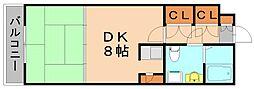 千鳥ビル[6階]の間取り