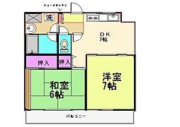 メゾンドシャンタル[4階]の間取り