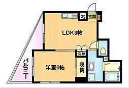 大阪府大阪市都島区都島中通1の賃貸マンションの間取り