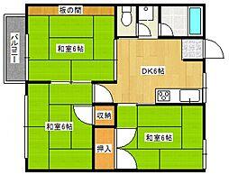 第2グリーンコーポ近藤[202号室号室]の間取り