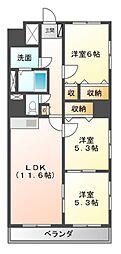 エクサージュ21[3階]の間取り
