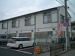 千葉県松戸市新松戸の賃貸アパートの外観