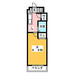 KII−OKASAN B.[4階]の間取り