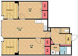 マンシオン・タイラ[14階]の間取り