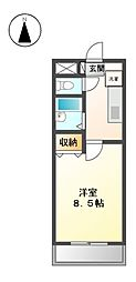 ハイライフ田幡[4階]の間取り
