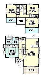 [一戸建] 福岡県福岡市博多区浦田2丁目 の賃貸【/】の間取り
