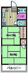 高橋マンション(文蔵)[203号室]の間取り