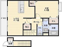 セレノアロッジオ2[2階]の間取り