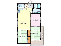 新屋ビル[4階]の間取り