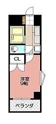KMマンション八幡駅前III[817号室]の間取り