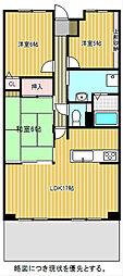 愛知県名古屋市千種区香流橋2丁目の賃貸マンションの間取り