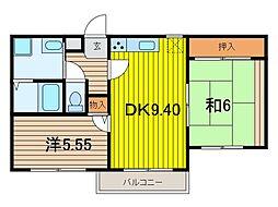 アプロアメニティ南浦和[3階]の間取り