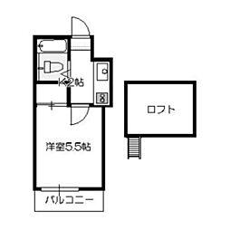 ラサバンナ三宅[201号室]の間取り