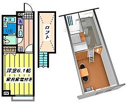 埼玉県さいたま市西区宮前町の賃貸アパートの間取り