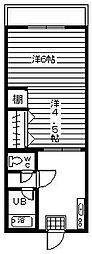 藤和コーポ[103号室]の間取り